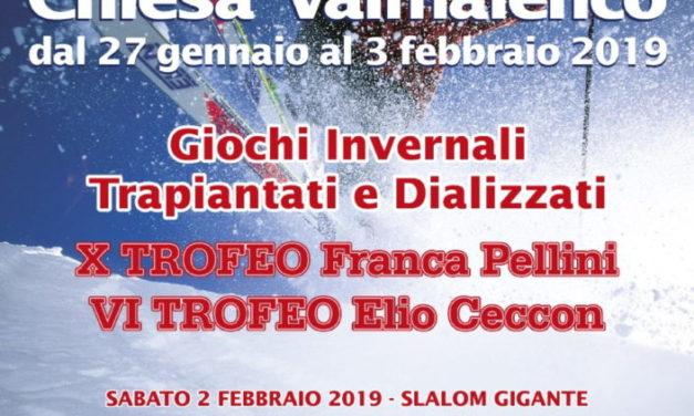 27 GENNAIO/3 FEBBRAIO 2019  GIOCHI INVERNALI TRAPIANTATI E DIALIZZATI  Chiesa in Valmalenco (SO)